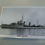 1930 HMS Keith  warship framed picture